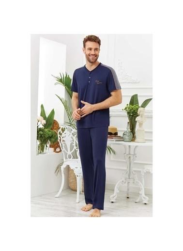 Cossy By Aqua Aqua 20907 Erkek Kısa Kol Pijama Takım  Lacivert